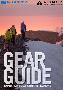 RMI and Whittaker Mountaineering Gear Guides Expedition Skills Seminar - Emmons