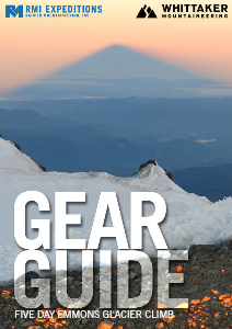 RMI and Whittaker Mountaineering Gear Guides Rainier Five Day Emmons Glacier Climb