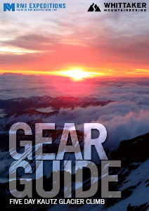 RMI and Whittaker Mountaineering Gear Guides Rainier Five Day Kautz Glacier Climb
