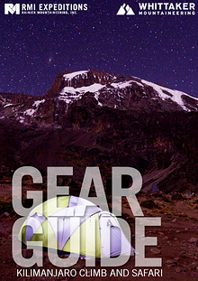 RMI and Whittaker Mountaineering Gear Guides