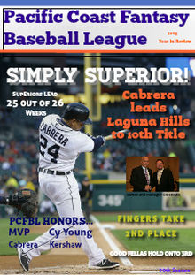 2013 Pacific Coast Fantasy Baseball League Year in Review