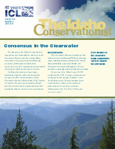 Idaho Conservationist, July 2013 Vol. XVI, Number 2