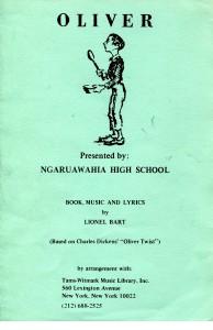 "Ngaruawahia High School 1986 ""Oliver"""