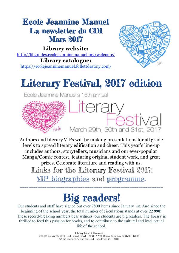 Library Newsletter March 2017