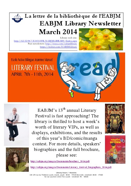 Library Newsletter March 2014