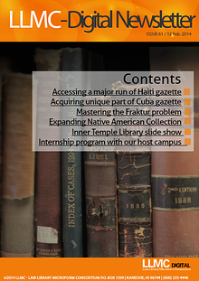 The LLMC-Digital Newsletter