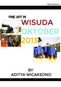 FINE ART ISSUE #1/NOV 2013 : WISUDA OKTOBER 2013