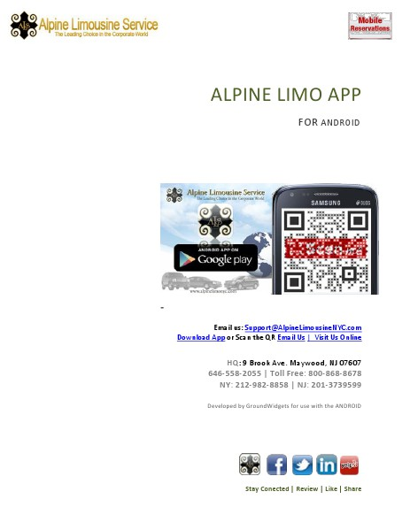 ALPINE LIMO APP Android Guide