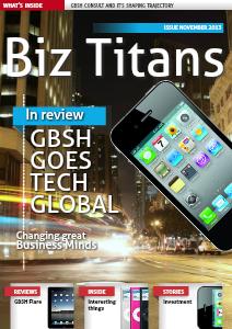 iConnect GBSH Consult Magazine Nov 2013