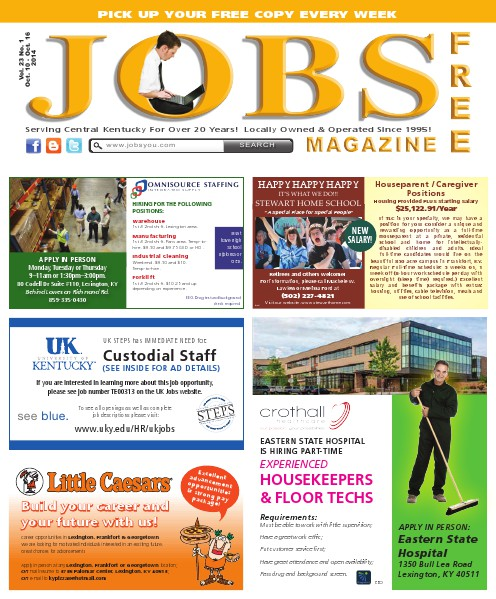 Jobs Magazine October 10 – 16, 2014