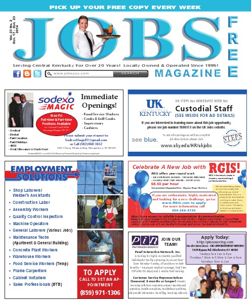 Jobs Magazine October 17 – 23, 2014
