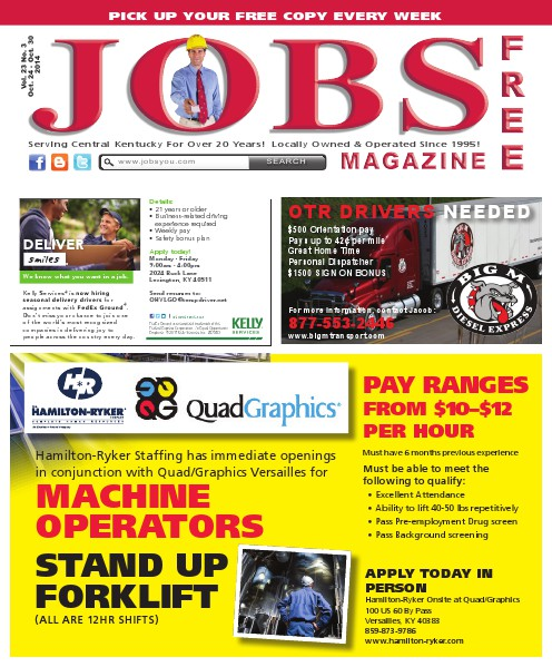 Jobs Magazine October 24 – 30, 2014