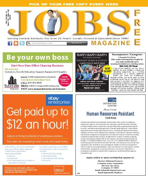 Jobs Magazine November 14 – 20, 2014