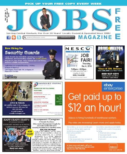 Jobs Magazine November 21 – 27, 2014