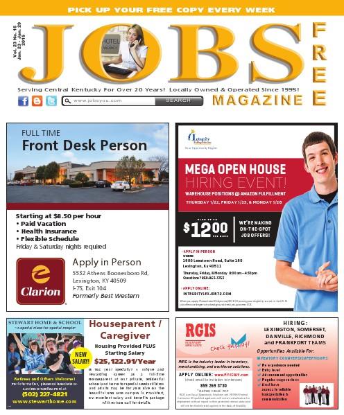 Jobs Magazine January 23 – 29, 2015