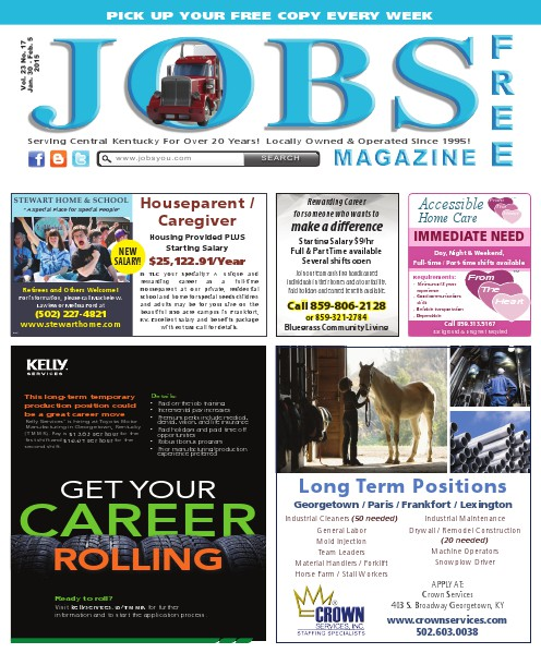 Jobs Magazine January 30 – February 5, 2015