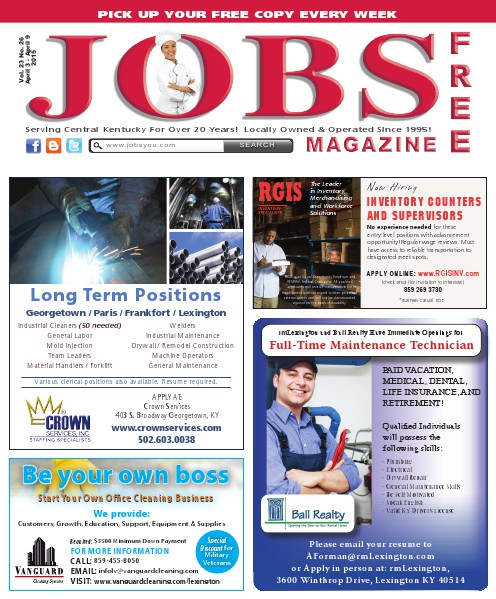 Jobs Magazine April 3 – 9, 2015