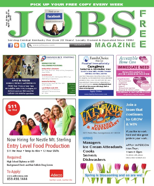 Jobs Magazine April 10 – 16, 2015