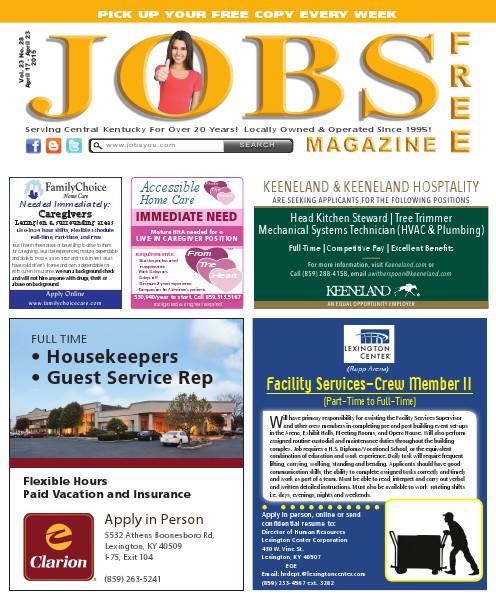Jobs Magazine April 17 –23, 2015