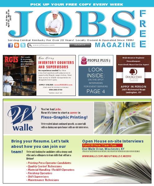 Jobs Magazine April 24 – 30, 2015