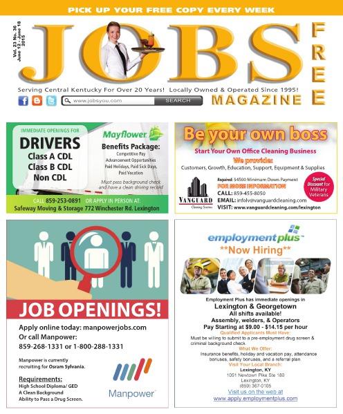 Jobs Magazine June 12 – 18, 2015