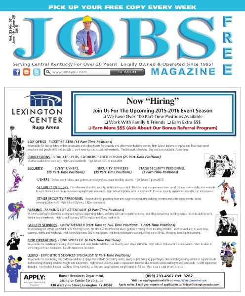 Jobs Magazine June 19 – 25, 2015