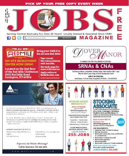 Jobs Magazine August 21 – 27, 2015