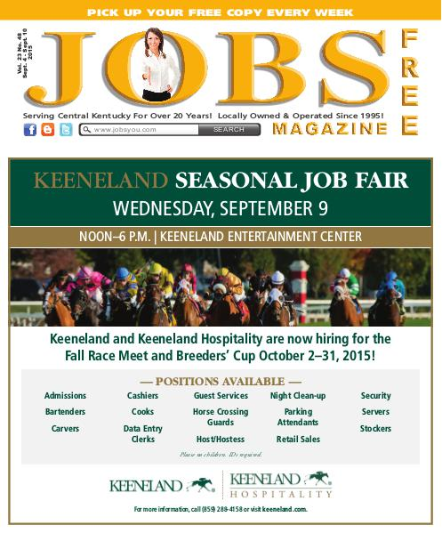 Jobs Magazine September 4 – 10, 2015