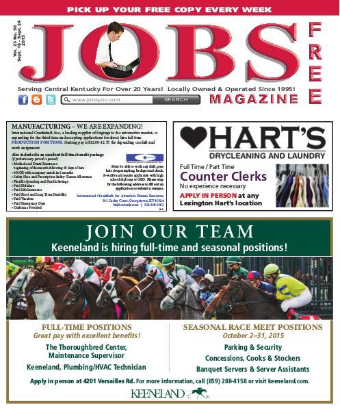 Jobs Magazine September 18 – 24, 2015
