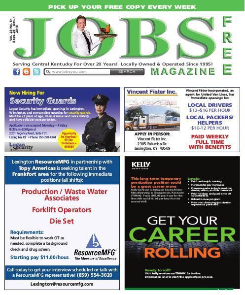 Jobs Magazine September 25 – October 1, 2015