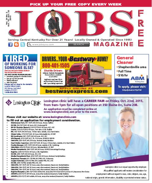 Jobs Magazine October 16 – 22, 2015
