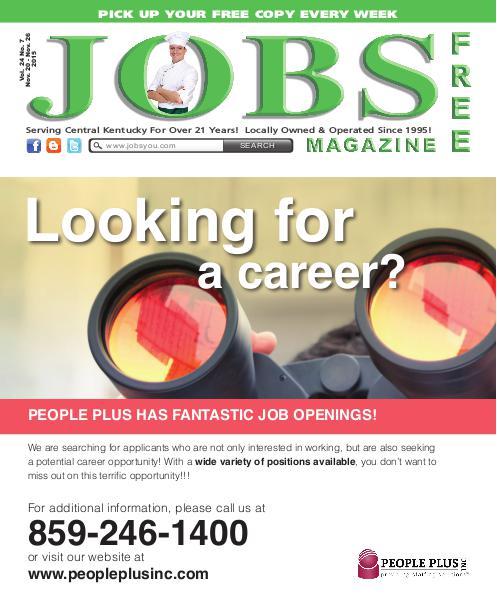 Jobs Magazine November 20 – 26, 2015
