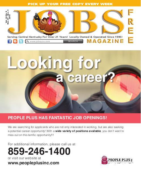 Jobs Magazine November 27 – December 3, 2015