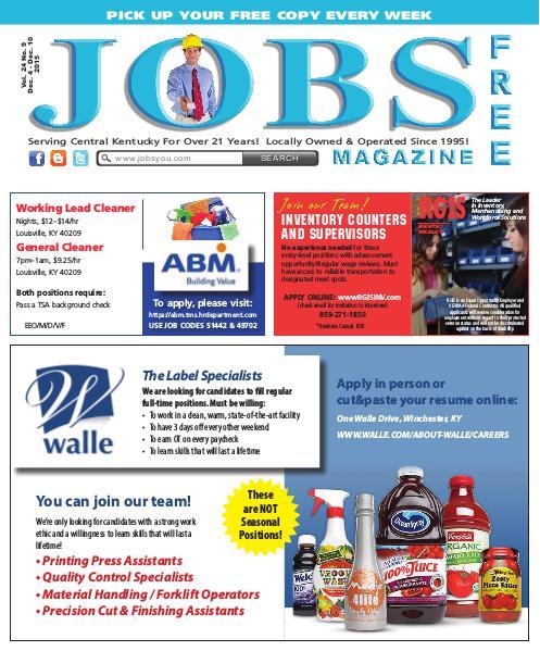 Jobs Magazine December 4 – 10, 2015