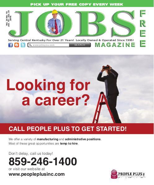 Jobs Magazine January 15 – 21, 2016