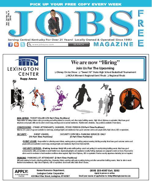 Jobs Magazine January 29 –February 4, 2016