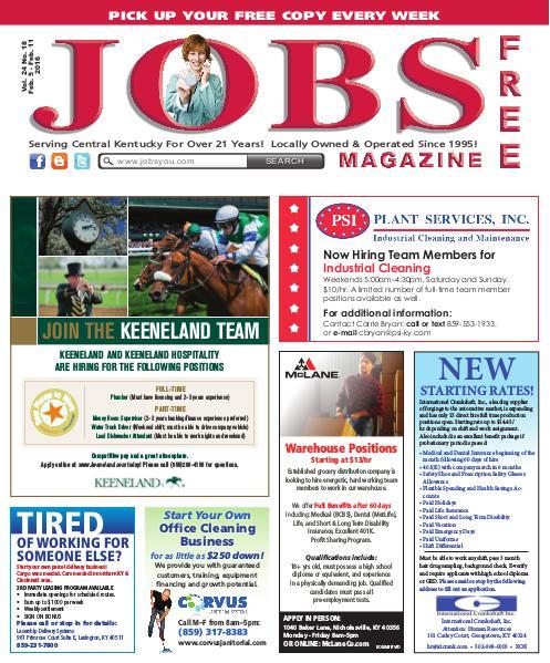 Jobs Magazine February 5 – 11, 2016