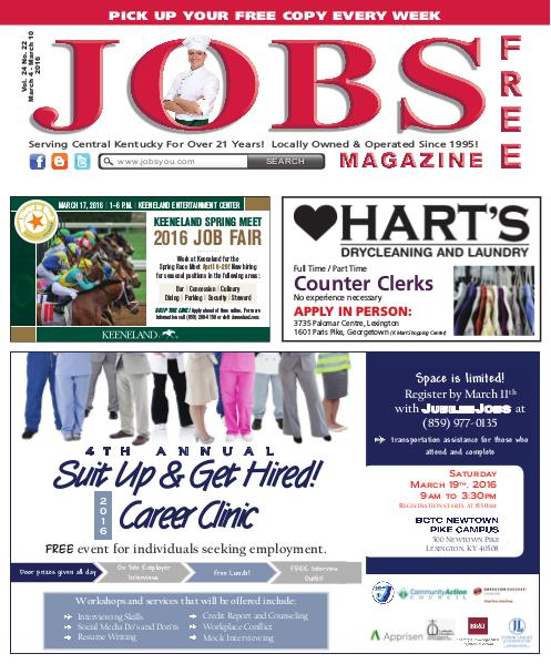 Jobs Magazine March 4 – March 10, 2016