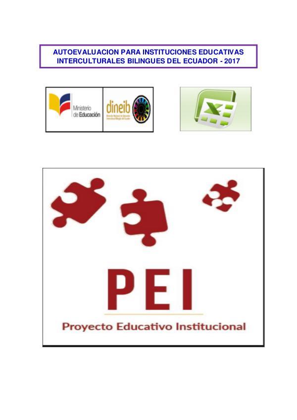 PEI 2017 Autoevaluación IEIBs Guillermo Andrade Proceso de autoevaluación institucional IEIBs