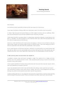 Healing Hands Profile 1 June 2013
