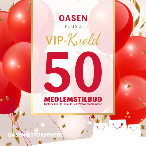 Medlemsdag - Oasen Storsenter Tilbudshefte - VIP kveld_ORG