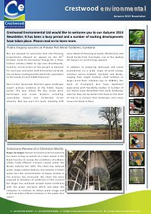 Crestwood Environmental Autumn 2013 Newsletter