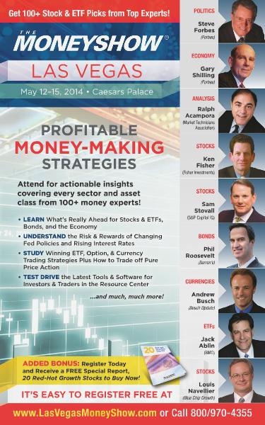 The MoneyShow The MoneyShow Las Vegas 2014 Brochure