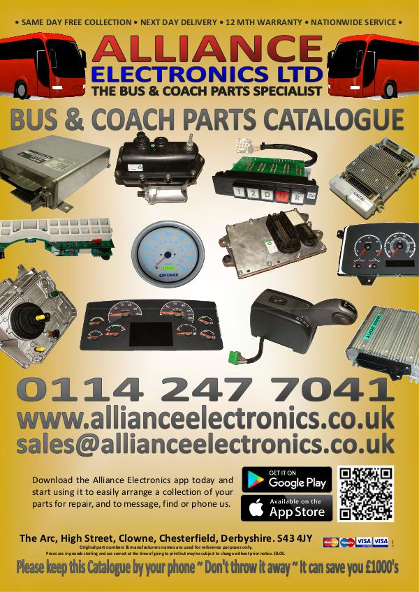 Bus and Coach Parts Catalogue from Alliance Electronics 2018 2018