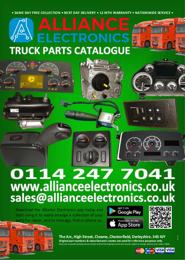 Truck Parts Catalogue from Alliance Electronics 2018 2016