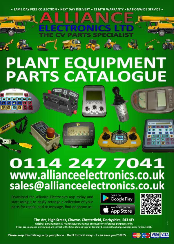 Alliance Electronics Ltd Plant Equipment Parts Catalogue 2016 Alliance Electronics Ltd Plant Equipment Parts Cat