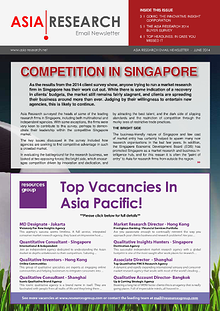 Asia Research Email Newsletter