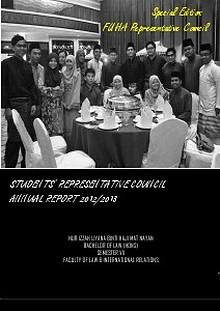 Annual Report MPP 2012/2013: Special Edition FUHA Representative Council