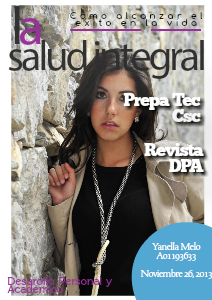 Yanella Melo A0119363 Revista DPA November,2013