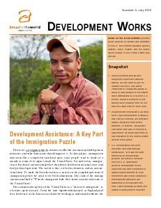 Development Works Number 3, July 2012